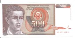 YOUGOSLAVIE 500 DINARA 1991 AUNC P 109 - Yugoslavia