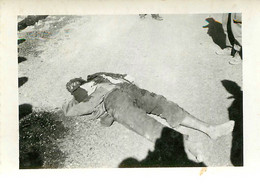 GUERRE D'ALGERIE OUED KEBERIT  01/1956 INDIGENE MORT POUR LA FRANCE MESSAGE TRES FORT AU VERSO 9X6CM - War, Military