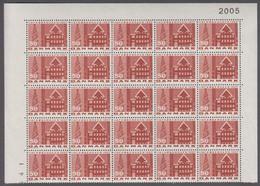 1967. DANMARK. KØBENHAVN. 50 øre. 25-Block Number 2005. (Michel 453x) - JF414924 - Briefe U. Dokumente