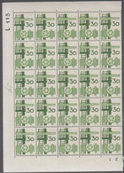 1968. DANMARK. DANSK INDUSTRI. 30 øre. 25-Block Number L 115. (Michel 470) - JF414930 - Briefe U. Dokumente