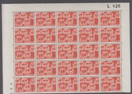 1969. DANMARK. NORDEN. 60 øre. 25-Block Number L 126. (Michel 475) - JF414932 - Briefe U. Dokumente