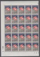 1969. DANMARK. DANNEBROG. 60 øre. 25-Block Number L 136. (Michel 481) - JF414937 - Briefe U. Dokumente