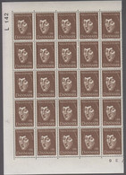 1969. DANMARK. MARTIN ANDERSEN NEXØ. 1 Kr. 25-Block Number L 142. (Michel 485) - JF414939 - Briefe U. Dokumente