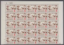 1969. DANMARK. RED CROSS. ROYAL FAMILY. 50 + 10 øre. 25-Block Number L 145. (Michel 488) - JF414940 - Briefe U. Dokumente