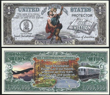 !!! USA - FANTASY NOTE -  SAINT  CHRISTOPHER , PROTECTOR  OF TRAVELERS  - UNC - Other
