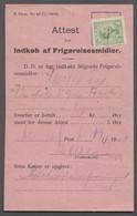 1920. DANMARK. King Christian X. 5 Øre On Attest For Indkøb Af Frigørelsesmidler (F. ... (Michel 67) - JF414966 - Briefe U. Dokumente