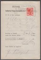 1920. DANMARK. King Christian X. 10 Øre On Attest For Indkøb Af Frigørelsesmidler (F.... (Michel 68) - JF414967 - Briefe U. Dokumente