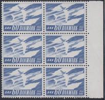 1962. DANMARK. SAS 60 øre. 6-Block. (Michel 388y) - JF415031 - Briefe U. Dokumente