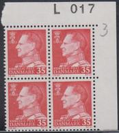 1963. DANMARK. Frederik IX. 35 øre. 4-Block L 017. (Michel 412y) - JF415033 - Briefe U. Dokumente
