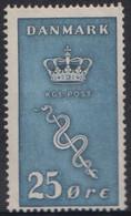 1929. Cancer Stamps. 25 Øre + 5 Øre Blue Hinged. (Michel 179) - JF415040 - Nuevos