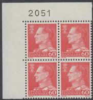 1967. Frederik IX. 60 øre. 4-Block 2051. (Michel 458x) - JF415045 - Briefe U. Dokumente