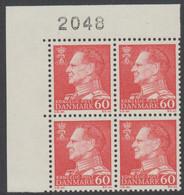 1967. Frederik IX. 60 øre. 4-Block 2048. (Michel 458x) - JF415046 - Briefe U. Dokumente
