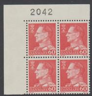 1967. Frederik IX. 60 øre. 4-Block 2042. (Michel 458x) - JF415047 - Briefe U. Dokumente