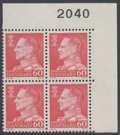 1967. Frederik IX. 60 øre. 4-Block 2040. (Michel 458x) - JF415048 - Briefe U. Dokumente