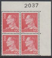 1967. Frederik IX. 60 øre. 4-Block 2037. (Michel 458x) - JF415049 - Briefe U. Dokumente