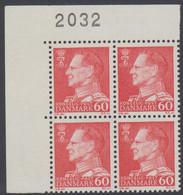 1967. Frederik IX. 60 øre. 4-Block 2032. (Michel 458x) - JF415050 - Briefe U. Dokumente