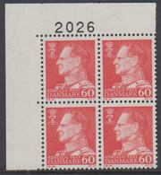 1967. Frederik IX. 60 øre. 4-Block 2026. (Michel 458x) - JF415051 - Briefe U. Dokumente