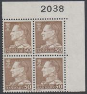 1967. Frederik IX. 50 øre. 4-Block 2038. (Michel 457x) - JF415053 - Briefe U. Dokumente
