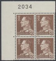 1967. Frederik IX. 50 øre. 4-Block 2034. (Michel 457x) - JF415054 - Briefe U. Dokumente
