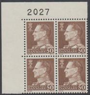 1967. Frederik IX. 50 øre. 4-Block 2027. (Michel 457x) - JF415055 - Briefe U. Dokumente