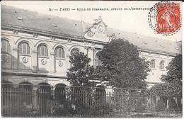 Cpa Paris 6è - Ecole De Pharmacie , Avenue De L'Observatoire . - Paris (06)