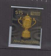NEW ZEALAND - 2011 - RUGBY / WEBB  ELLIS CUP $15 3 DIMENSIONAL STAMP  MINT NEVER  HINGED  SGCAT £27 - Ongebruikt