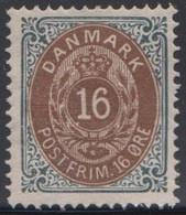 1875. Bi-coloured. 16 Øre Brown/grey. Perf. 14x13½. Normal Frame. LUXUS Centered. No ... (Michel 27IYAb) - JF415083 - Ungebraucht