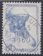 1960 DANMARK. VERDENSSUNDHEDS ORGANISATIONEN 60 ØRE LUXUS. KASTRUP 16-8-1960.  (Michel 385) - JF415087 - Briefe U. Dokumente