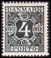 1926. Postage Due. Porto. 4 Øre Blue Never Hinged. (Michel P10) - JF415159 - Port Dû (Taxe)