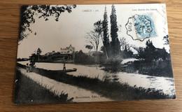 CP 1906 Chécy Loiret Les Bords Du Canal Cachet Particulier De GIEN ORLEANS Barge Bac Barque - Orleans