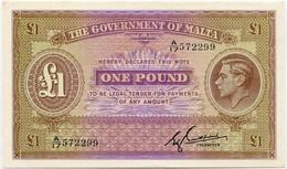 MALTA 1 Pound ND (1940 ) P-20с, UNC- - Malta