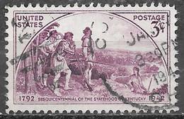 1942 3 Cents Kentucky, Used - Usados