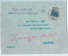 93882 - ARGENTINA - POSTAL HISTORY -  Cover To HOLLAND 1915 Via SHIP Araguaya - Cartas