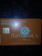 ESPAGNE SPAIN CARTE A PUCE CHIP CARD STATIONNEMENT PARKING FUENGIROLA DORNIER NEUVE MINT - Tarjetas De Estacionamiento (PIAF)
