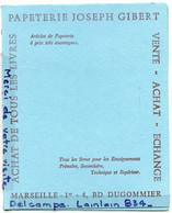 - Double  Buvard Bleu, - Papéterie Joseph GIBERT, Marseille, TBE, Dim : 16 X 21 Cm Plié, Scans. - S
