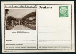 """Germany,Allemagne 1956 GS Mi.Nr.P24/0189Heuss I Grün """"Lernt  Deutschland Kennen-Hann.Münden,Werrabrücke""""1 GS Blanco - Postales Ilustrados - Nuevos"""