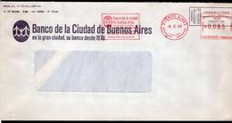 Argentina - 1986 - Lettre - Cachet Spécial - Affranchissement Mécanique - Banco Ciudad De Bs. As. - A1RR2 - Lettres & Documents