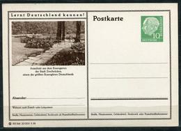 """Germany,Allemagne 1956 GS Mi.Nr.P24/0194 Heuss I Grün """"Lernt  Deutschland Kennen-Zweibrücken,Rosengarten  """"1 GS Blanco - Postales Ilustrados - Nuevos"""