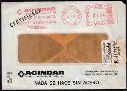Argentina - 1987 - Lettre - Cachet Spécial - Affranchissement Mécanique - Acindar - A1RR2 - Lettres & Documents