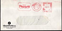 Argentina - 1986 - Lettre - Cachet Spécial - Affranchissement Mécanique - Revista Para Ti - A1RR2 - Lettres & Documents