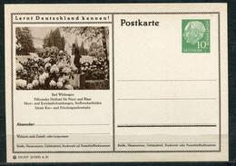 """Germany,Allemagne 1955 GS Mi.Nr.P24/0158 Heuss I Grün """"Lernt  Deutschland Kennen-Bad Wildungen,Heilbad """"1 GS Blanco - Postales Ilustrados - Nuevos"""