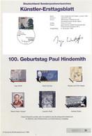 Allemagne 1995 - Michel N. 1827 - Künstler-Ersttagblatt Paul Hindemith (Y & T N. 1659) - FDC: Feuilles