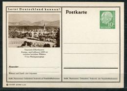 """Germany,Allemagne 1955 GS Mi.Nr.P24/0157 Heuss I Grün """"Lernt  Deutschland Kennen-Traunstein,Oberbayern """"1 GS Blanco - Postales Ilustrados - Nuevos"""
