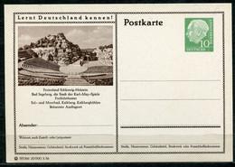 """Germany,Allemagne 1956 GS Mi.Nr.P24/0192 Heuss I Grün """"Lernt  Deutschland Kennen-Bad Segeberg,Freilichtbühne""""1 GS Blanco - Postales Ilustrados - Nuevos"""