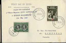 Carte  Avec N° 498  Obl. BRUXELLES - BRUSSEL - 1 - Du 03/05/39  Pour Montréal (Canada) - Lettres