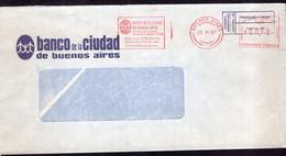 Argentina - 1987 - Lettre - Cachet Spécial - Affranchissement Mécanique - Banco Ciudad De Bs. As. - A1RR2 - Lettres & Documents