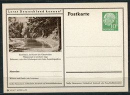 """Germany,Allemagne 1956 GS Mi.Nr.P24/0149 Heuss I Grün """"Lernt  Deutschland Kennen-Beerfelden,Odenwald """"1 GS Blanco - Postales Ilustrados - Nuevos"""