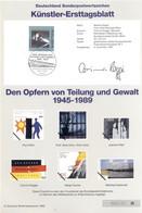 """Allemagne 1995 - Michel N. 1830 - Künstler-Ersttagblatt """"Aux Victimes De La Division Et De La Violence"""" (Y & T N. 1662) - FDC: Feuilles"""