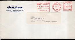 Argentina - 1988 - Lettre - Cachet Spécial - Affranchissement Mécanique - Swift-Armour - A1RR2 - Lettres & Documents
