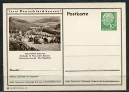 """Germany,Allemagne 1955 GS Mi.Nr.P24/0150 Heuss I Grün """"Lernt  Deutschland Kennen-Bad U.Stadt Brückenau """"1 GS Blanco - Postales Ilustrados - Nuevos"""